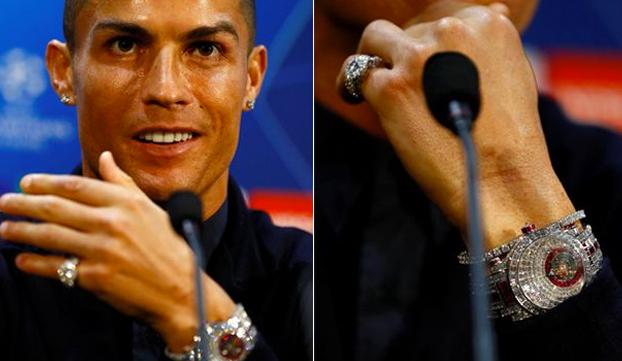 Reloj dos millones de euros de Cristiano Ronaldo