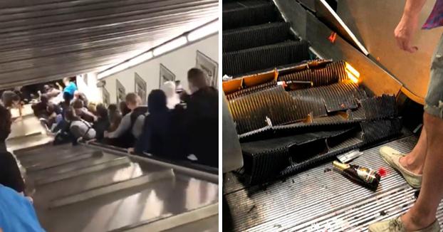 Más de 20 heridos al colapsar una escalera mecánica en el metro de Roma