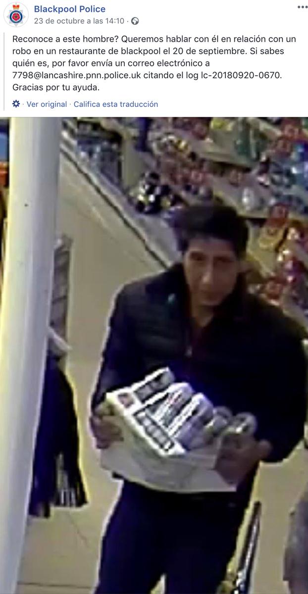 La policía busca a un ladrón de cerveza que es clavado a Ross de 'Friends' y el actor decide parodiar el robo