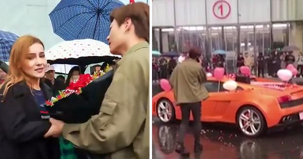 Le pide la mano a una joven comprándole un Lamborghini y ella lo rechaza [Vídeo]