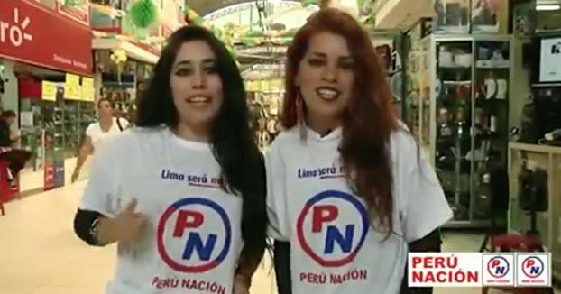 En Perú hay un partido político que se llama Perú Nación, que abreviado es PN, su spot publicitario es una joya...