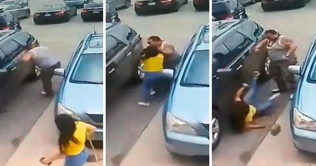 Una mujer le roba el sitio donde iba a aparcar y el incidente acaba en una pelea entre la hija de esta y el hombre