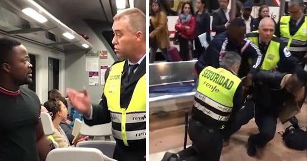 Vigilantes de Renfe en Madrid agreden a un viajero negro porque se negó a enseñar el billete