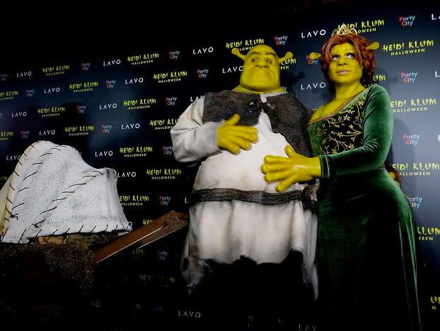 Heidi Klum princesa Fiona de Shrek halloween 2018