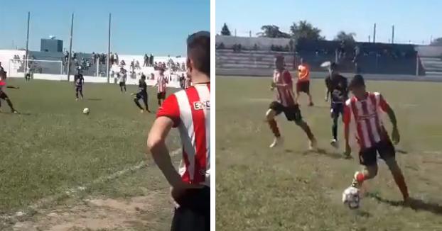 La patada más violenta del año en el fútbol argentino