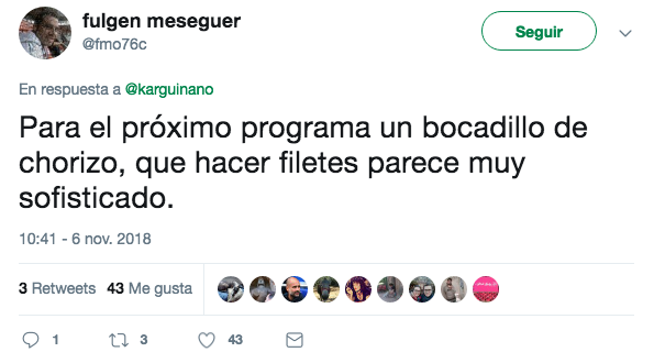 Cachondeo en Twitter con la última receta de Karlos Arguiñano