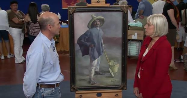 Momento en el que un hombre descubre que la pintura que tenía colgada en su oficina todos estos años vale 1 millón de dólares