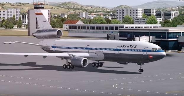 Reconstrucción del accidente del avión DC-10 de Spantax al despegar del aeropuerto de Málaga