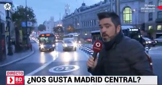 Un reportero de Telemadrid intenta encontrar desesperadamente a alguien que no le guste Madrid Central