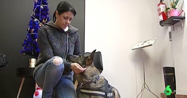 """Silvia pide que su perro sea su escolta por miedo a su maltratador que va a salir de prisión. """"Si yo le doy la orden, Sugi le mordería"""""""