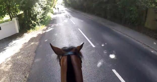 Multan con más de mil euros a un ciclista que adelantó a un caballo de manera temeraria
