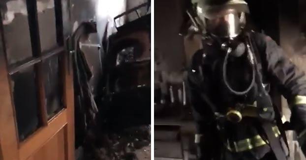 Los bomberos de Albacete nos enseñan la importancia de cerrar una puerta durante un incendio