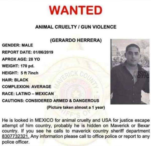 Gerardo Herrera, el hombre que apuñaló a un perro, está siendo buscado en Estados Unidos