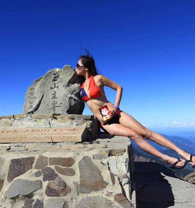 Una mujer, conocida como ''la montañera del bikini'', muere congelada al intentar escalar el pico más alto de Taiwán