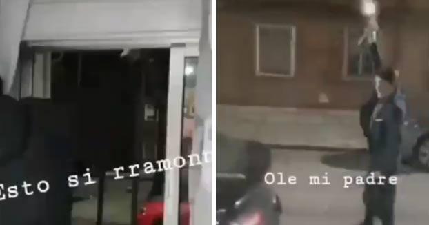 Nuevas imágenes de los vecinos del barrio de Las Viudas disparando al aire con armas automáticas en fin de año