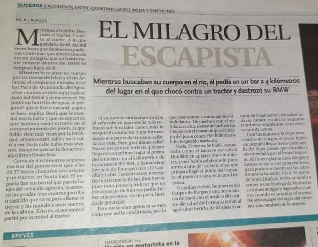 El milagro del escapista en Burgos