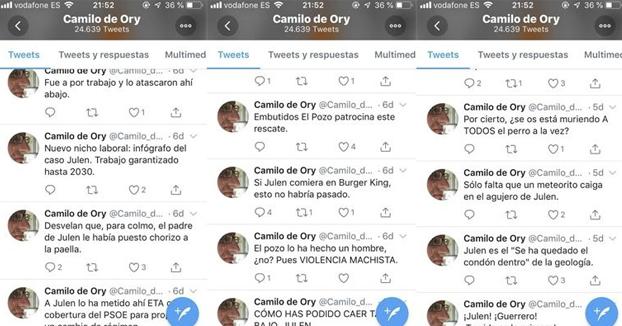 La Diputación de Málaga iniciará acciones contra el poeta que se ríe de Julen con tuits de mal gusto