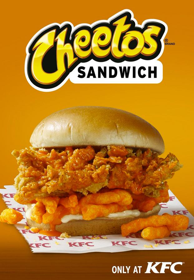 KFC lanza una hamburguesa con pollo frito y Cheetos