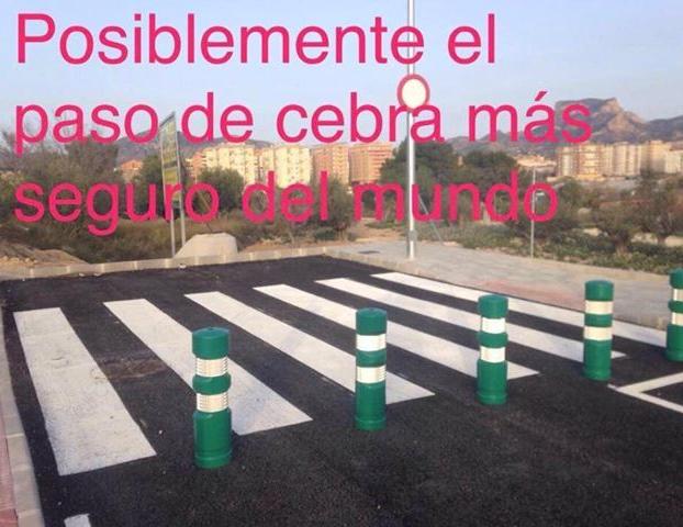 El paso de cebra más seguro del mundo se encuentra en Elda, Alicante