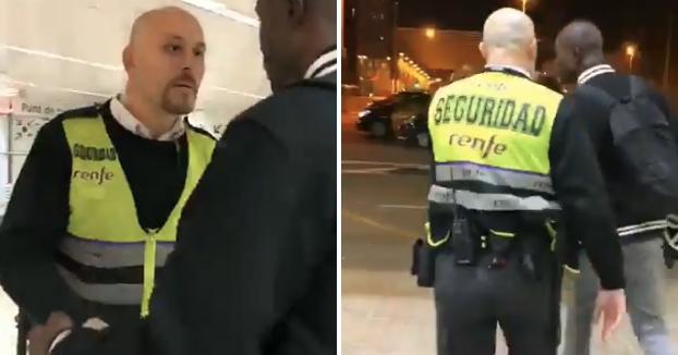 'Es Racismo' denuncia un nuevo caso de discriminación: Un guardia de seguridad empuja y actúa con actitud chulesca contra un viajero en Barcelona
