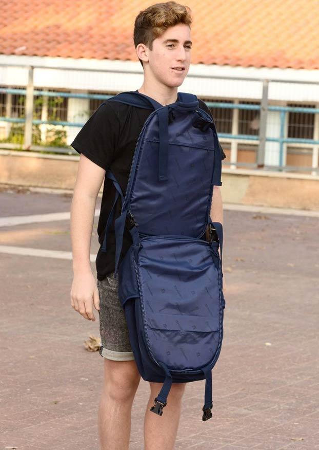 Ante el auge de masacres en escuelas, venden una mochila con escudo antibalas