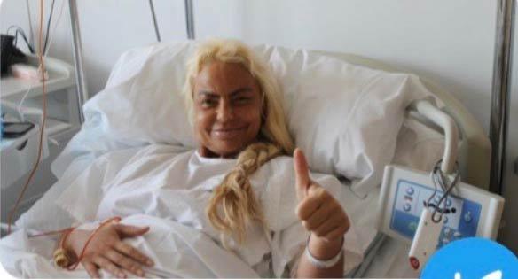 Leticia Sabater comparte su primera foto tras operarse para parecerse a Madonna
