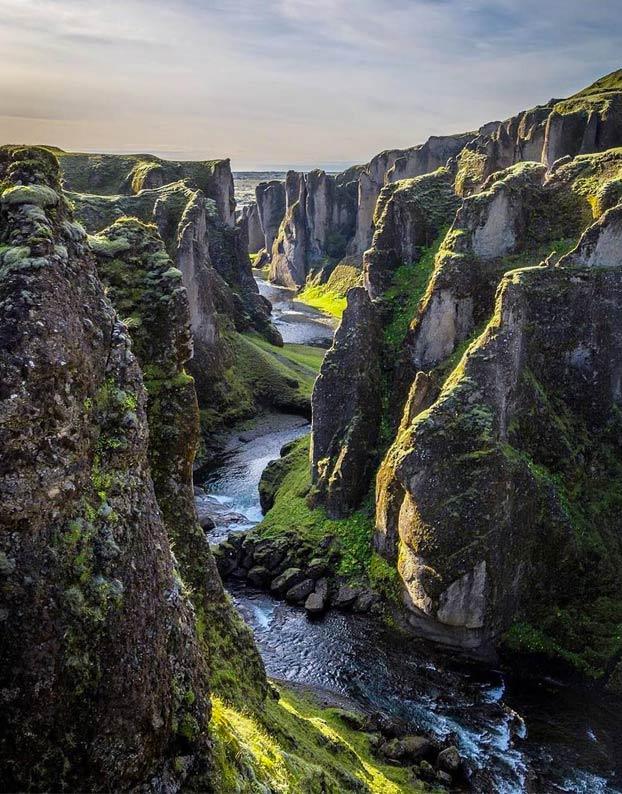 cañón de Fjadrárgljúfur