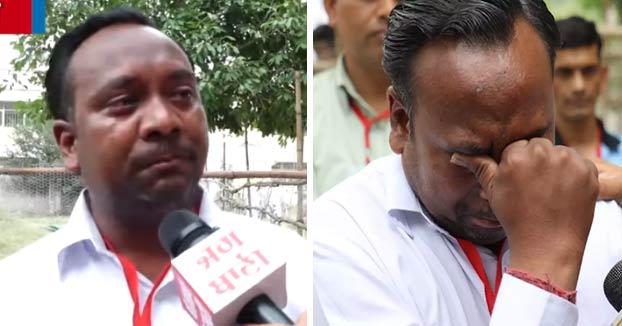 Un político indio llora en directo tras obtener solo cinco votos cuando en su familia son nueve personas
