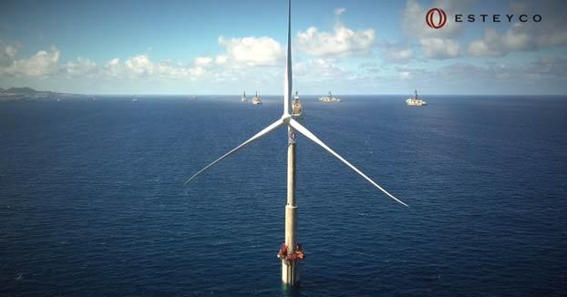 Vídeo del primer aerogenerador eólico marino español
