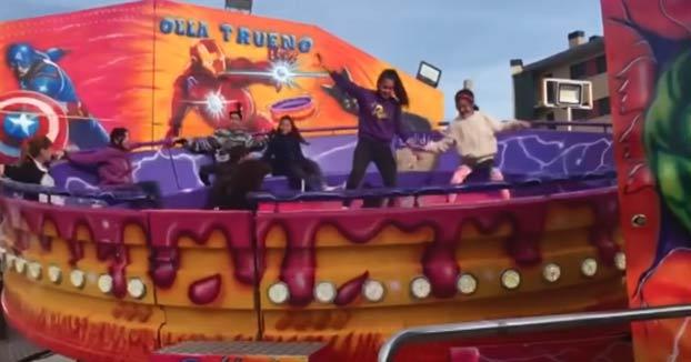 Sale despedida de la atracción de feria ''La Olla Trueno'' en La Rioja