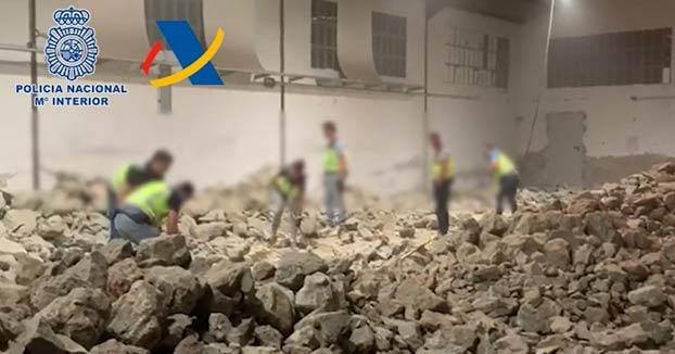 La policía interviene en Madrid una tonelada de cocaína oculta en falsas piedras