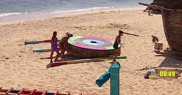 A Colate, ex de Paulina Rubio, se le cae una rueda gigante encima durante una prueba en Supervivientes