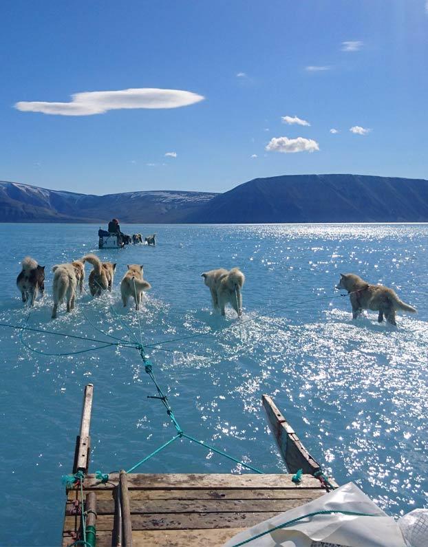 El deshielo en Groenlandia en una sola fotografía
