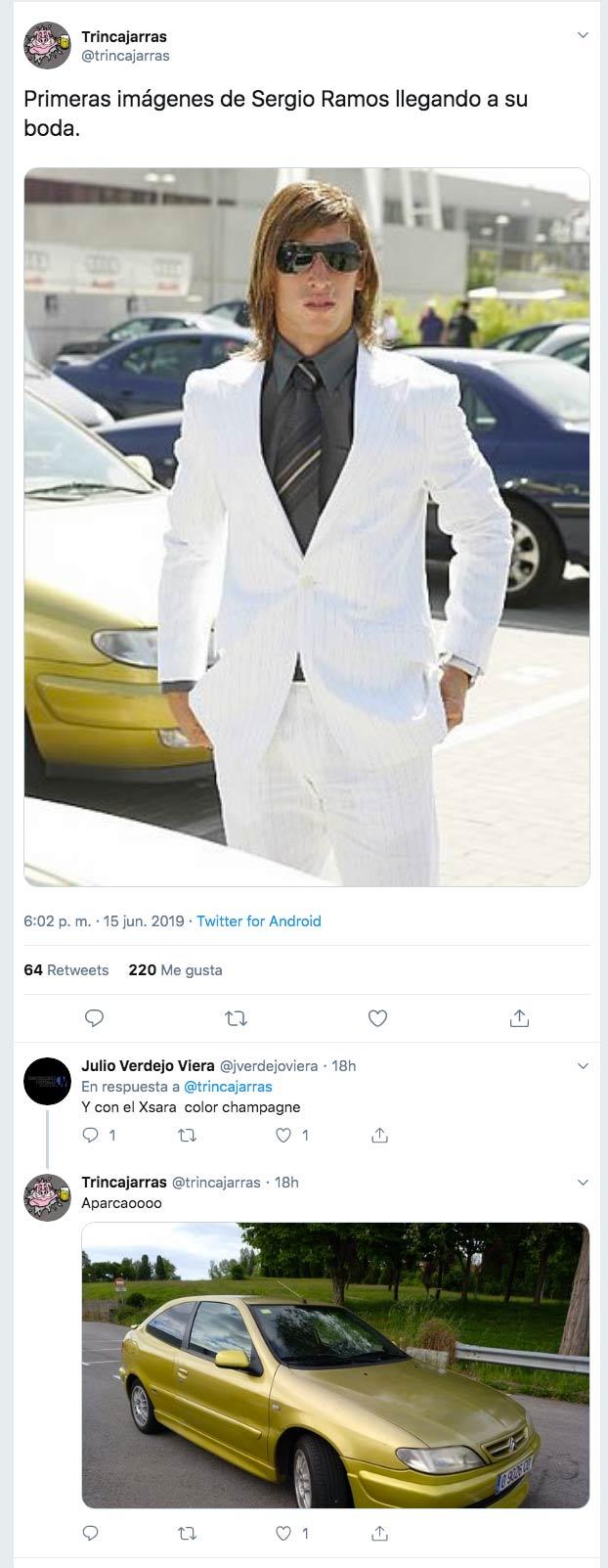 Los mejores memes sobre la boda de Sergio Ramos y Pilar Rubio