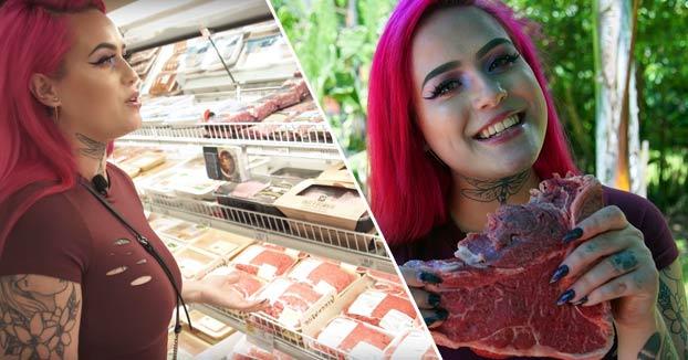 Wendy, una mujer que es adicta a comer carne cruda
