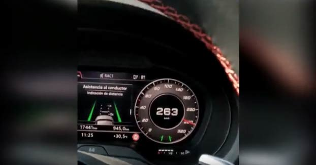 Se graba conduciendo a 263 km/h en Mollet y sube el vídeo a Internet