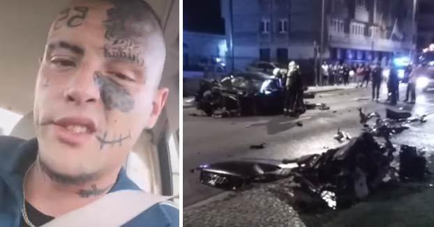 El conductor del coche siniestrado en la Ronda de la muralla de Lugo: ''Un día me duró, pero me la gocé. K me kiten lo bailao. El cráneo reventado''