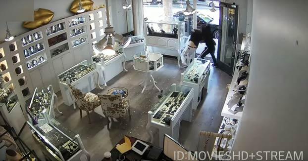 Robo super fail en una joyería de Santa Mónica, California