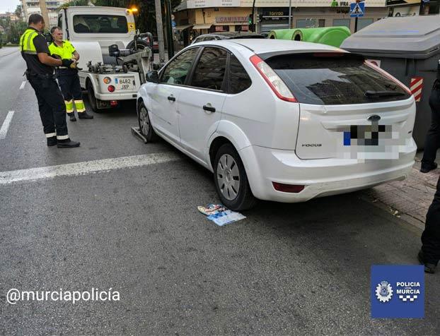 Se queda dormido al volante cuando circulaba cuadruplicando la tasa de alcoholemia por Murcia