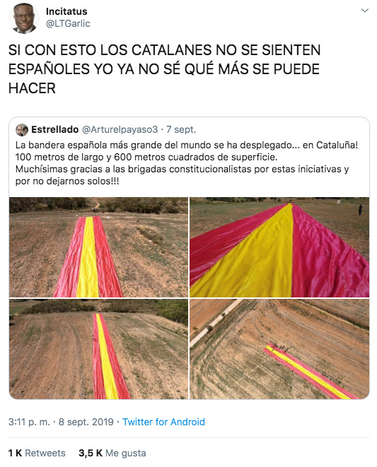 ''Si con esto los catalanes no se sienten españoles yo ya no sé qué más se puede hacer''