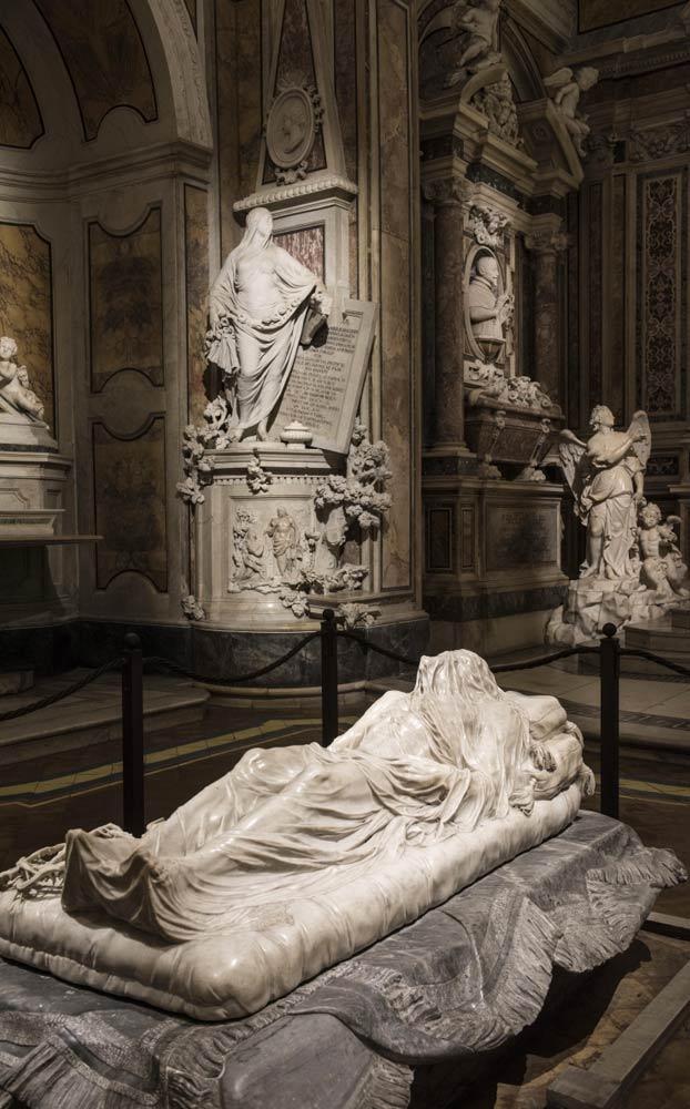 El Cristo Velado de la capilla Sansevero de Nápoles, una de las obras maestras de la escultura mundial