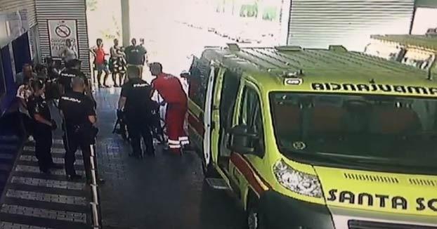 Un preso en silla de ruedas intenta escapar durante un traslado al hospital de Alcalá de Henares. Este fue el momento
