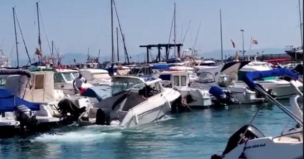 Un individuo roba un barco en el puerto de Melilla y consigue escapar tras ser perseguido por los Geas