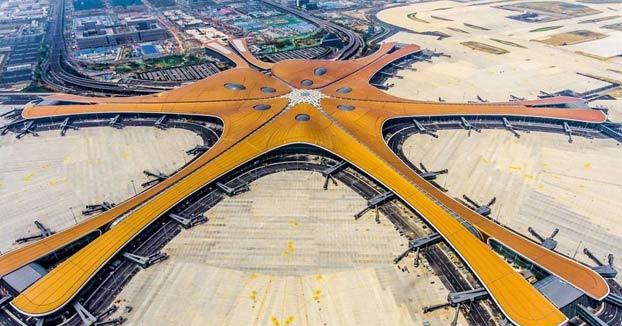 Así es el nuevo aeropuerto de Beijing, una ''estrella de mar'' futurista