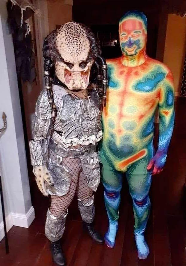 Disfraz Predator en pareja