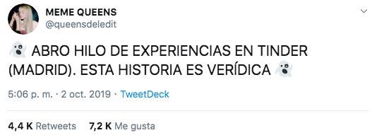 Experiencia de una chica al quedar con un chico por Tinder en Madrid