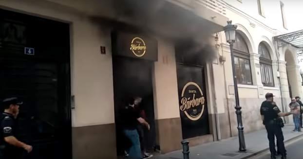 Incendio en el pub Santa Bárbara de Alicante