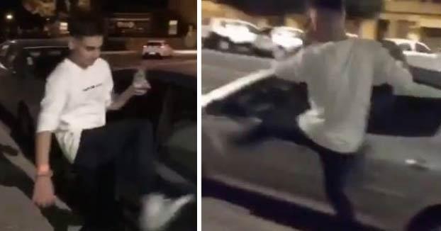 Dos chavales borrachos rompen retrovisores de coches aparcados en el Puerto de Sagunto y lo publican en Instagram