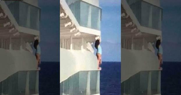 Expulsan de un crucero a una pareja tras hacerse unas fotos tras la barandilla de un balcón del barco