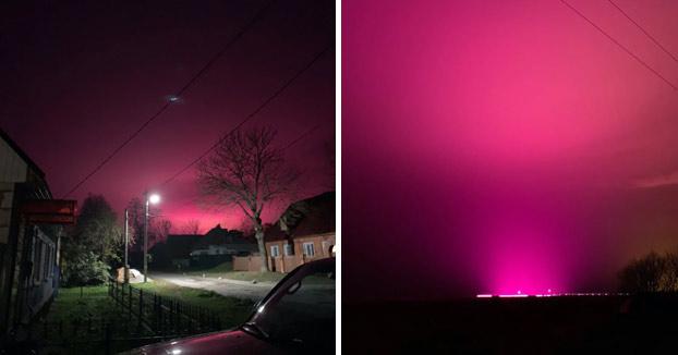 Si vas conduciendo por Rusia y ves este resplandor rosa, tiene una explicación